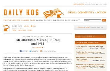 http://www.dailykos.com/story/2011/09/10/1015236/-An-American-Missing-in-Iraq-and-9-11