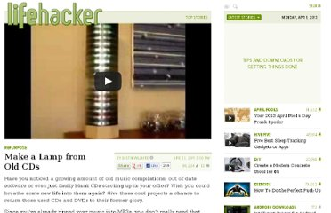 http://lifehacker.com/5794999/use-those-old-cds-again-with-these-cool-projects