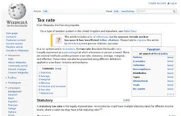 http://en.wikipedia.org/wiki/Tax_rate