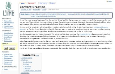 http://wiki.secondlife.com/wiki/Content_Creation