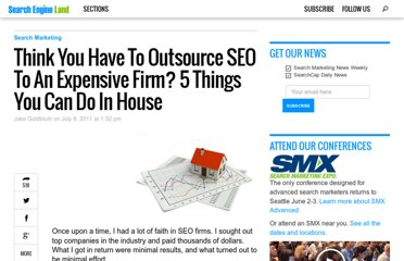 http://searchengineland.com/think-you-have-to-outsource-seo-to-an-expensive-firm-5-things-you-can-do-in-house-83625