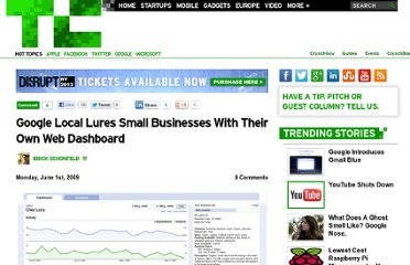 http://techcrunch.com/2009/06/01/google-local-lures-small-businesses-with-their-own-web-dashboard/