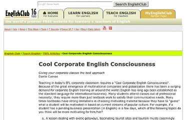 http://www.englishclub.com/tefl-articles/corporate-english.htm