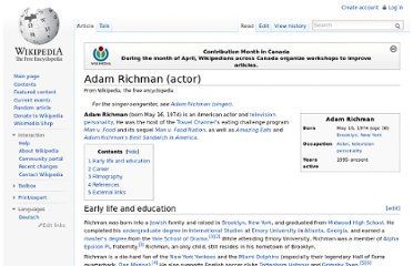 http://en.wikipedia.org/wiki/Adam_Richman_(actor)