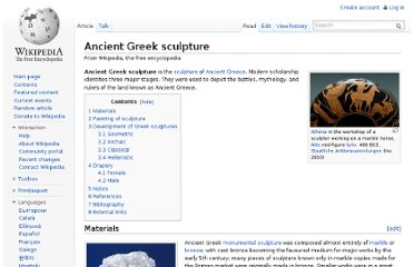 http://en.wikipedia.org/wiki/Ancient_Greek_sculpture