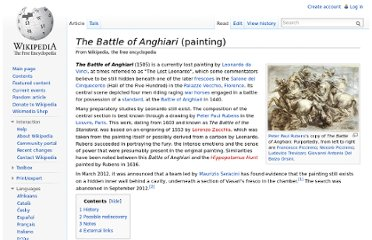 http://en.wikipedia.org/wiki/The_Battle_of_Anghiari_(painting)