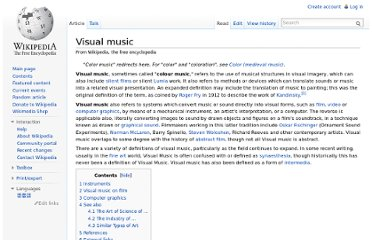 http://en.wikipedia.org/wiki/Visual_music