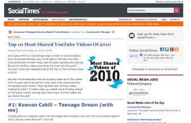 http://socialtimes.com/most-shared-youtube-videos-2010_b33003