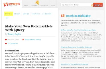 http://coding.smashingmagazine.com/2010/05/23/make-your-own-bookmarklets-with-jquery/