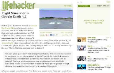 http://lifehacker.com/295797/flight-simulator-in-google-earth-42