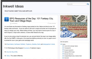 http://inkwellideas.com/2009/07/rpg-resources-of-the-day-101-fantasy-city-town-and-village-maps/