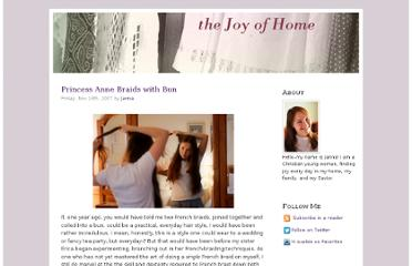 http://www.thejoyofhome.com/2007/11/princess-anne-braids-with-bun/
