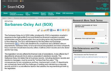 http://searchcio.techtarget.com/definition/Sarbanes-Oxley-Act