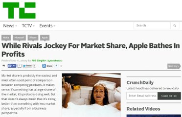 http://techcrunch.com/2009/11/11/while-rivals-jockey-for-market-share-apple-bathes-in-profits/