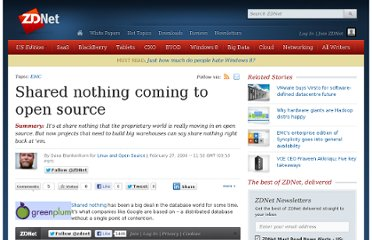 http://www.zdnet.com/blog/open-source/shared-nothing-coming-to-open-source/580