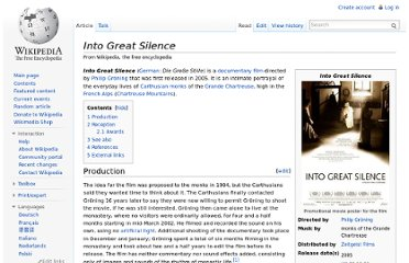 http://en.wikipedia.org/wiki/Into_Great_Silence