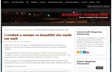 http://dangerousintersection.org/2007/01/22/i-created-a-woman-so-beautiful-she-made-me-melt/