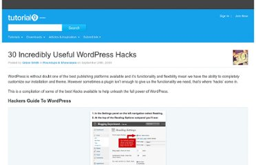 http://www.tutorial9.net/downloads/30-incredibly-useful-wordpress-hacks/