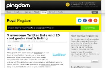 http://royal.pingdom.com/2009/12/10/5-awesome-twitter-lists-and-25-listable-geeks/#comment-390422