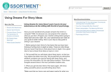 http://www.essortment.com/using-dreams-story-ideas-64812.html