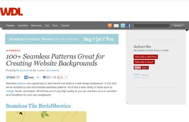 http://webdesignledger.com/freebies/100-seamless-patterns-great-for-creating-website-backgrounds