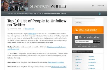 http://www.voiceoftech.com/swhitley/index.php/2008/12/top-10-list-of-people-to-unfollow-on-twitter/