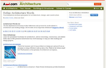 http://architecture.about.com/od/general/tp/Define-Architecture-Words.htm