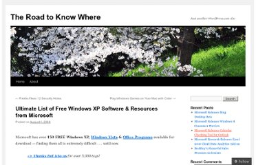 http://blakehandler.wordpress.com/2006/08/01/ultimate-list-of-free-windows-xp-software-resources-from-microsoft/