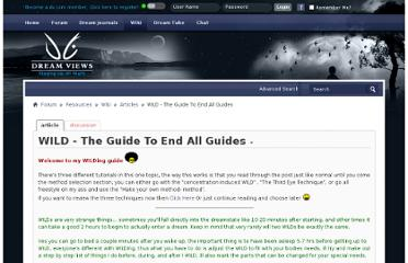http://www.dreamviews.com/wiki/WILD-The-Guide-To-End-All-Guides