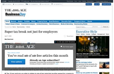 http://www.theage.com.au/business/super-tax-break-not-just-for-employers-20090406-9uw3.html