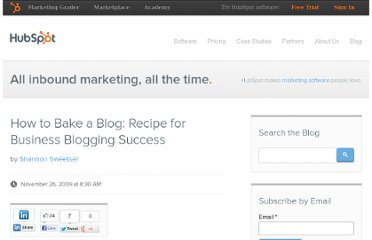 http://blog.hubspot.com/blog/tabid/6307/bid/5336/How-to-Bake-a-Blog-Recipe-for-Business-Blogging-Success.aspx