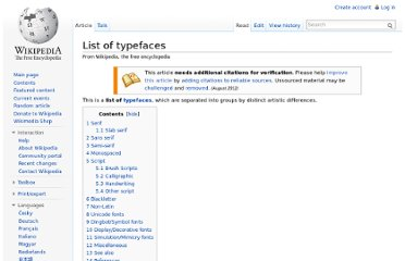 http://en.wikipedia.org/wiki/List_of_typefaces
