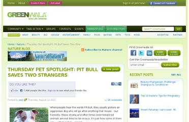 http://www.greenwala.com/channels/nature/blog/9409-Thursday-Pet-Spotlight-Pit-Bull-Saves-Two-Strangers
