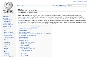 http://en.wikipedia.org/wiki/Color_psychology