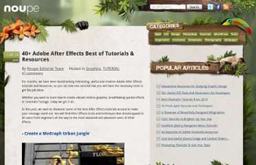 http://www.noupe.com/tutorial/40-adobe-after-effects-best-of-tutorials-resources.html