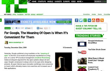 http://techcrunch.com/2009/12/22/google-open-when-convenient/
