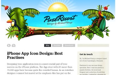 http://www.pixelresort.com/blog/iphone-app-icon-design-best-practises/