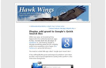http://www.hawkwings.net/2009/06/22/plugins-add-grunt-to-googles-quick-search-box/