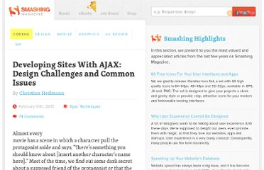 http://coding.smashingmagazine.com/2010/02/10/some-things-you-should-know-about-ajax/
