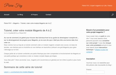 http://www.pierrefay.fr/tutoriel-magento-developpeur-guide-1