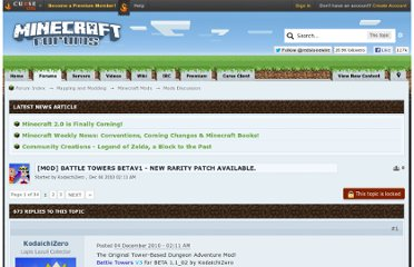 http://www.minecraftforum.net/topic/92529-mod-battle-towers-betav1-new-rarity-patch-available/
