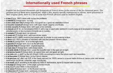 http://www.orbilat.com/Languages/French/Vocabulary/French-International.html