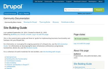http://drupal.org/documentation/build