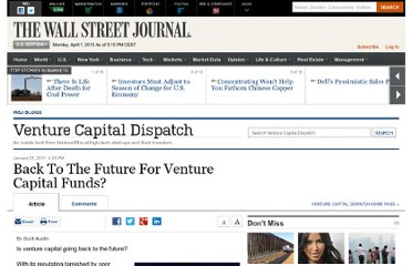 http://blogs.wsj.com/venturecapital/2011/01/25/back-to-the-future-for-venture-capital-funds/