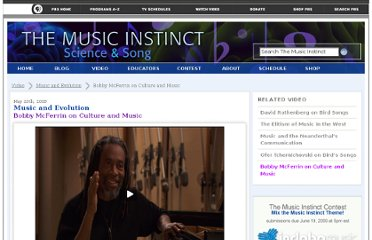 http://www.pbs.org/wnet/musicinstinct/video/music-and-evolution/bobby-mcferrin-on-culture-and-music/41/
