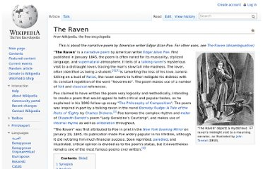 http://en.wikipedia.org/wiki/The_Raven