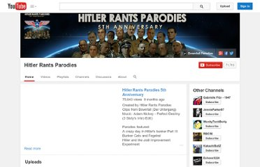 http://www.youtube.com/user/hitlerrantsparodies