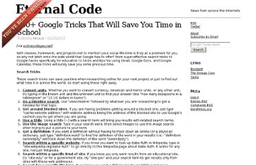 http://www.eternalcode.com/100-google-tricks-that-will-save-you-time-in-school/