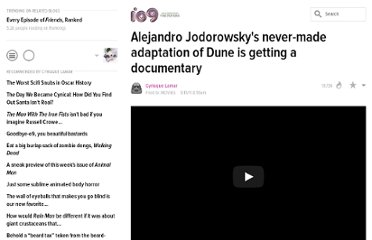 http://io9.com/5802016/alejandro-jodorowskys-never+made-adaptation-of-dune-is-getting-a-documentary