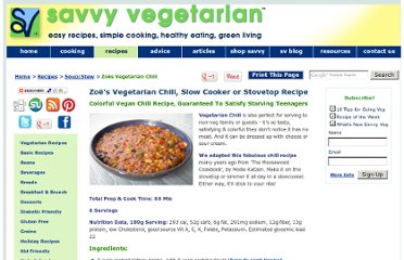 http://www.savvyvegetarian.com/vegetarian-recipes/vegetarian-chili.php
